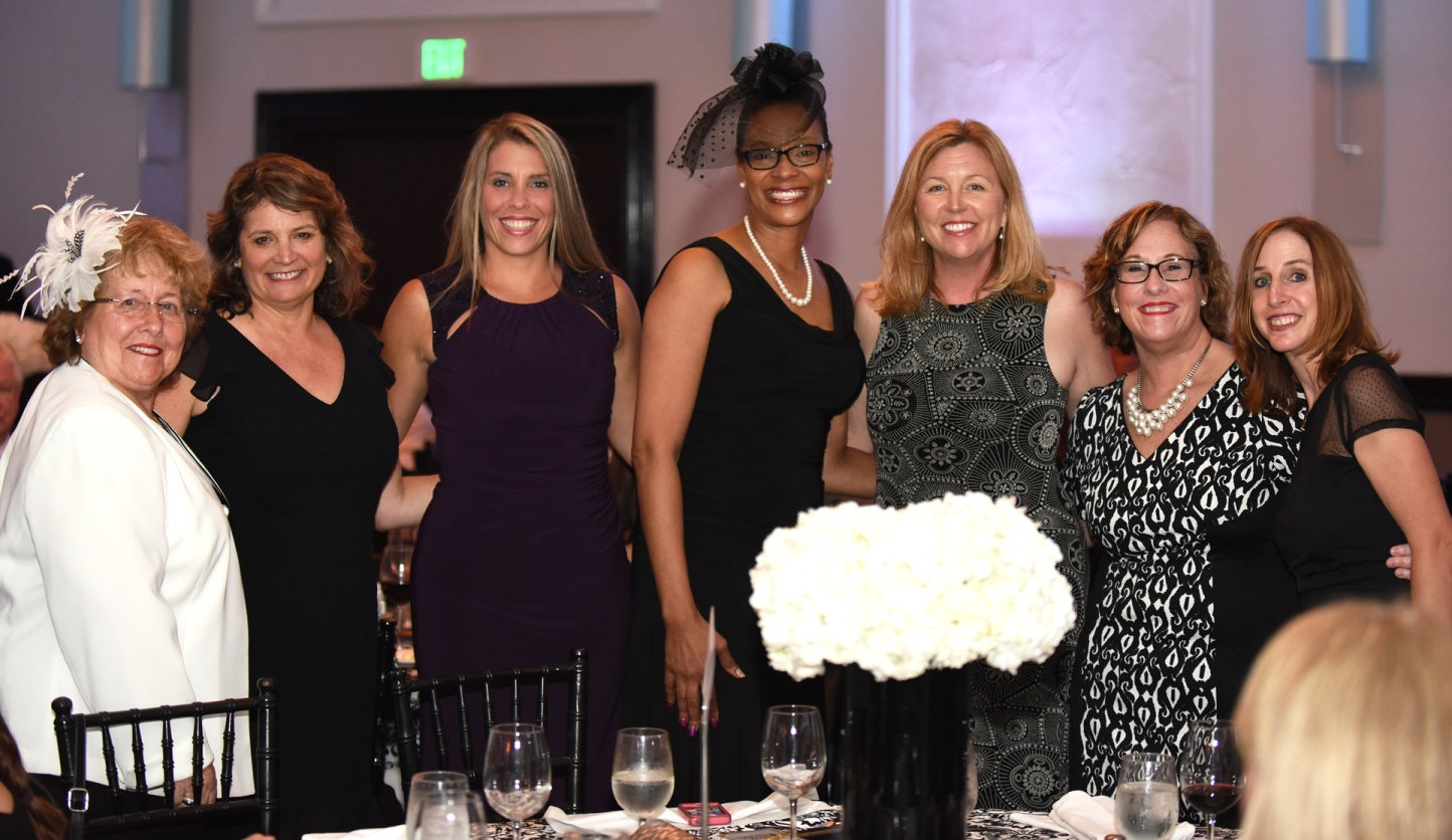 (L to R) Broward County School Board members Ann Murray, Laurie Rich  Levinson, Donna Korn, Dr. Rosalind Osgood, Heather Brinkworth, Nora Rupert  and Robin ...